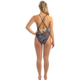 Dolfin Print Low X-Back One Piece Swimsuit Women star light